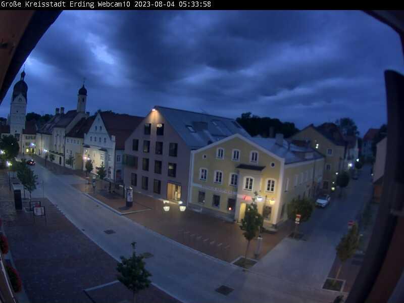 Landshuter Straße am Rathaus in Erding