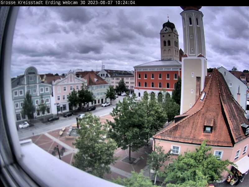 Schrannenplatz - Blick vom Rathaus in Erding